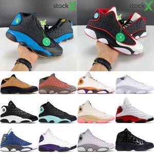 Новые 13 13s Jumpman ботинки баскетбола Крис Пол Away Reverse Он доигрались низкий чатни чистый дизайнер платины мужские тапок US 5.5-13