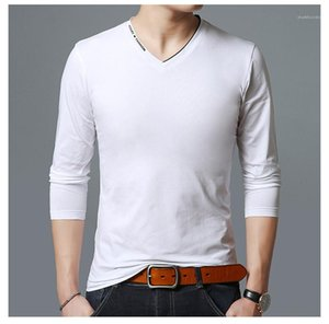 T-shirt Spring Loose Teeneger Tees Solid color V-Neck Clothes Casual T-shirt Men's Clothing Designer Fashion Mens