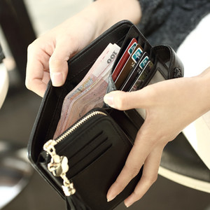 Credit Case Window Purse For With Womens Card Leather Wallets Slots Coin Checkbook Women ID Clutch Stbjb