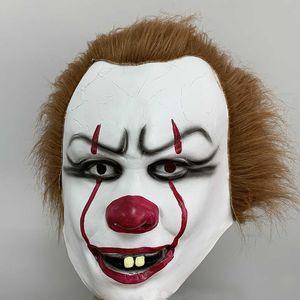 Новый Хэллоуин маска для силикона фильма Стивена Кинга Джокера Маска анфас Horror Клоуна Латекс маска партии Cosplay проп Маска 5 Стилей WX9-1604