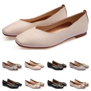 أحذية السيدات الأحذية المسطحة حجم الجعة 33-43 إمرأة جلد فتاة عارية أسود رمادي جديد arrivel العمل الزفاف حزب اللباس ثلاثة وخمسون