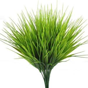 Plantes artificielles d'extérieur, 4pcs faux plastique verdure arbustes buissons d'herbe de blé remplisseur intérieur extérieur maison maison jardin bureau décor