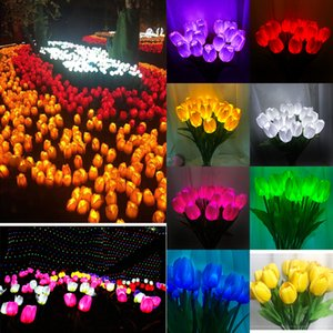 LED Tulip Garden Light Garden Decoration Plug Light Outdoor Waterproof Simulation Lawn Landscape Light DHL Delivery DHB387