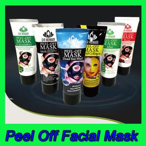 7 stili Peel Off Maschera per il viso di fango Latte collageno dell'oro di pulizia profonda 60g rimozione di comedone del Mar Morto Rose Aloe Viso Skin Care Maschera