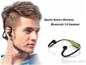 iphone5 6 Plus Galaxy S4 S5 S6 Not4 için S9 Sport Kablosuz 4.0 Bluetooth Kulaklık Taşınabilir Kulaklık Gerdanlık Kulaklık HIFI Müzik Çalar