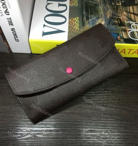 Emilie M60697 cartera L de la serie de flores bolsa de aleta PU de la carpeta de cuero de las mujeres bolsos de diseño a largo bolsos carteras bolsos de las mujeres
