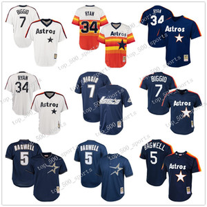 7 Craig Biggio Houston femmes des hommes jeunes enfants en jersey 5 Jeff Bagwell Astros de Houston 34 Nolan Ryan Throwback Jerseys