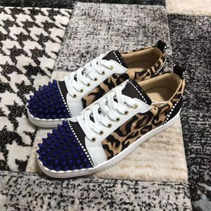 Designer Sneakers low cut Spikes Flats shoes Red Bottom For Men and Women Leather Sneakers Party Designer shoes 0505057