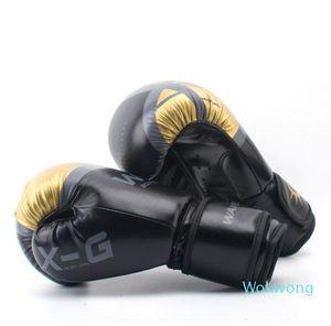 Adultes Femmes Hommes Gants de boxe en cuir MMA Muay Thai De Luva Boxe Mitts Sanda Equipements 8 10 12 6OZ Livraison gratuite