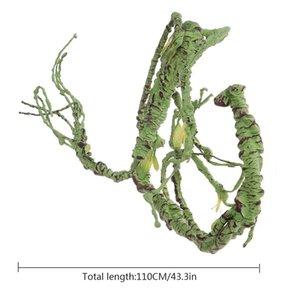 Pet Habitat Decor Reptile Simulado Rattan Rainforest dobráveis decoração para Lagartos Rãs Snakes