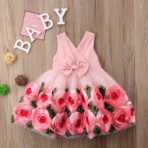 baby girl rose flower girl dress kid children birthday outfit kids ball gowns summer outfits