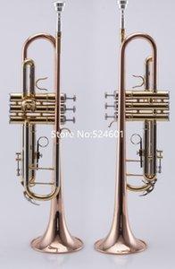 Высокое качество падение настройтесь труба BB золото лак музыкальных инструментов, профессионального мундштук и чехол Бесплатная доставка