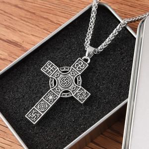 croce pendente slavic simbolo runa Gioielli Collane punk Silver Colore Etnica