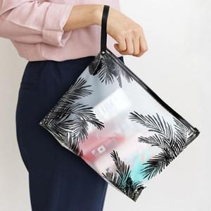 Art und Weise Frauen-freie kosmetische Beutel PVC Kulturbeutel-Spielraum-Organisator Notwendige Beauty Case Makeup Tasche Badewäsche Make Up Box