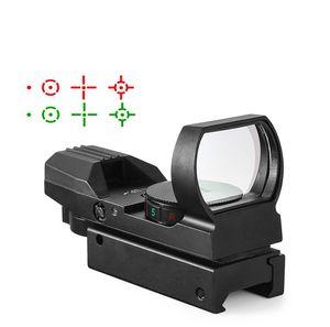 Горячая 20mm Rail Прицел Охота Оптика Голографическая Red Dot Sight Reflex 4 Reticle Tactical Scope коллиматорный прицел