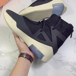designer shoe Fear of God 1 Boots for Mens Light Grey Triple Black Orange High Ankle Sport Shoes Luxury Skateboard Shoes Sneaker size 40-46