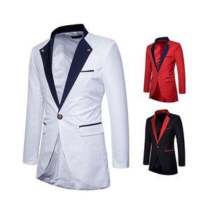 Pop2019 패턴 남자 착용 Swallowtail 신사 색상 일치하는 시간이 작은 양복 루스 코트 자 켓 X321