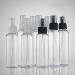 Пустая прозрачная бутылка брызга 100ml / 120ml белая верхняя Лейка любимчика пластичные пробирки косметические бутылки упаковки