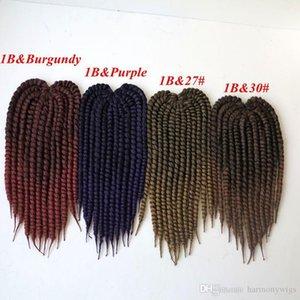 kanekalon Sentetik örgü saç Havana Mambo twist 18inch 110g Tığ örgü sentetik Saç Uzantıları fazla renk