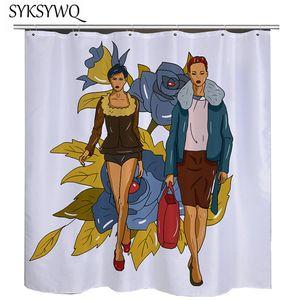 Defile Banyo Perde Çiçek Duş Perde Polyester Duschvorhang Trend Modeli göster Banyo Duş Kumaş Mavi