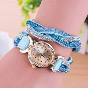A Cubic Zirconia Korean Velvet Bracelet Egg Shape Oval Gold Watch Quartz Casual Ladies Fashion Bracelet Watch