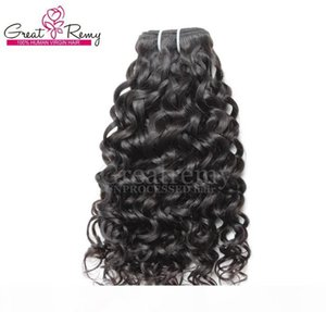 8-34inch Retail 1pc Human Hair Extensions Brazilian Remy Virgin Hair Weaves Water Wave Big Curly Hair Extension Wefts Dyeable Natural Black