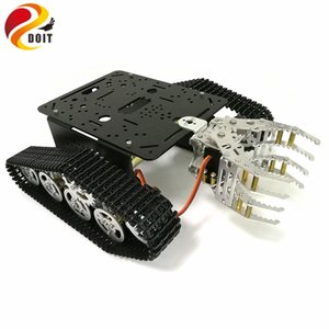Doit Tank шасси с механическими Кло, гусеничное шасси с захватным, гусеничной техникой, Tank робот, RC танком для DIY проекта Robot
