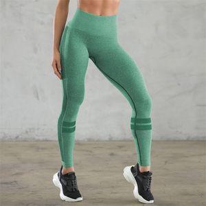 Mulher da ioga geral completa calças justas oco Out cintura alta Seamless Sexy Gym Leggings Sólidos Pants Cor ajuste aptidão Esporte Wear Vestuário 35lx E19