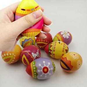 Uova di Pasqua Giocattolo Squishy PU Lento Rising Jumbo Eggs Antistress Animali Giocattoli a sfera Spremere Giocattoli di decompressione Giocattoli pasquali