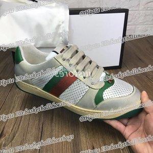 Uomini 2019 35-46 TOP Women Size Designer Shoe Distressed Vaglio Dapper Dan Suede Sneakers italiana di lusso scarpe unisex scarpe casual con la scatola