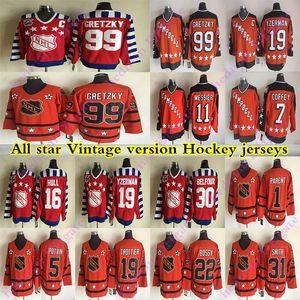 ALL STAR CCM Vintage jerseys 99 Gretzky 19 Yzerman 16 HULL 30 Belfour 1 PAIS 5POTVIN 31 SMITH 11 MESSIER Hockey Jersey