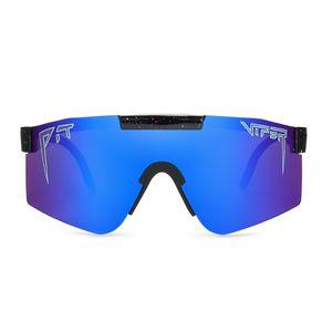 pit viper Sonnenbrille double wide polarized mirrored blau Objektiv tr90 Rahmen uv400 Schutz Y200420