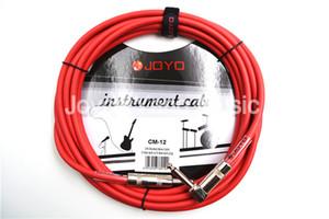 와이어를 연결 JOYO CM-12 15피트 4.5M 차폐 모노 6.3 남성 각도 금속 플러그 일렉트릭 기타베이스 키보드 케이블 악기