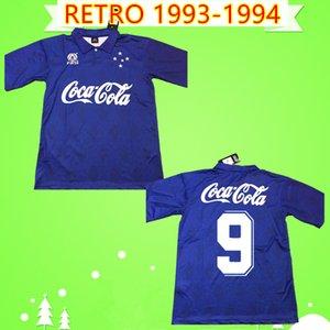 TOP qualidade tailandesa 93 94 Retro CRUZEIRO ronaldo camisas de futebol 1993 1994 Brasil camisas de futebol Vintage casa azul Brasil clube Camisas clássicas