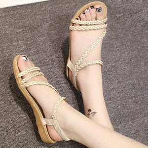 Sıcak Sale-MUQGEW Yaz bayan Ayakkabıları yaz Balık Ağzı Roma Ayakkabı Rahat Düz Sandalet Bayan Sandalet bayan düz 2019