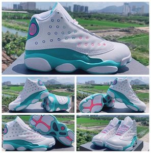 2020 Designer Aurora Green 13 13s Woman Basketball Shoes White Jumpman Womens Trainers baskets Sports Sneakers des chaussures zapatos