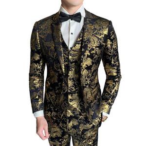 Sellado para hombre Nueva Blazers caliente de la manera ocasional del juego de negocio del vestido de boda del novio Traje Etapa 3 piezas Set