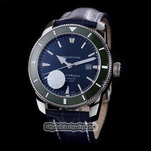 Süper Okyanus Miras II 42 AB2010161C1A1 Mavi Japonya Miyota Mekanik Erkek İzle Mavi Seramik Bezel Deri Kayış Yüksek Kaliteli Saatler Dial