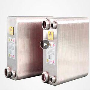 1U de 80 placas de permutador de calor em aço inoxidável mosto de cerveja Chiller refrigerador Início a produção de cerveja do tipo placa soldada aquecedor de água SUS304