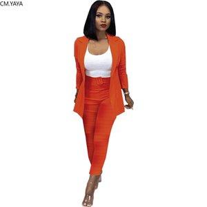 GL Women Winter Tracksuit Full Sleeve Blazers Pants Suit Two Piece Set Work Business Office Lady Outfit Uniform Women's Set 8320