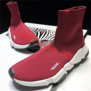Hococal 2020 TOP Quality Speed Trainer Black White Sneakers Men Women Black Red Casual Shoes Fashion Socks Sneakers Cheap Boots 36-45