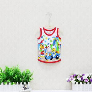 2019 Little Q Children Clothing Girls Vests Boys Tank Tops Baby Summer Thin Pure 100% Cotton Clothes 10 pcs lot O Neck Shirts