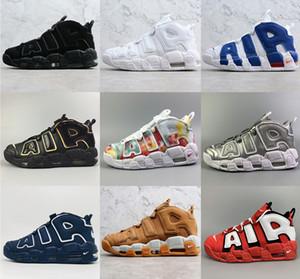 Горячая продажа Air More Uptempo ' 96 баскетбольная обувь air pippen TROPHY ROOM CHI QS track trainer кроссовки классический стритбол пшеница уличная обувь