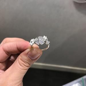 حلقة الإبداعية بالجملة، لباندورا 925 الفضة الاسترليني البنود السيدات عصابة CZ الماس بريق باقة الأزياء مع الاطار الأصلي