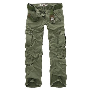 Hot sale free shipping men cargo pants camouflage trousers military pants for man 7 colors CX200604