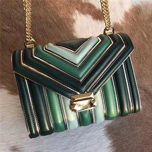 Heiße Verkaufs-Art- und Frauen Schultertasche Classic Gold Kette Umhängetaschen Verlaufsart Frauen-Handtragetaschen Messenger Bag 3 Farben