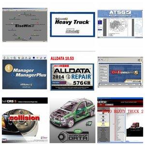 Alta calidad Alldata 10.53 M.itchell Software AutoData 3.38 + 10.53 + Todos los datos sobre la demanda mit.chell 2015 + ElsaWin + Vivid + ATSG 24 en 1 TB de disco duro USB 3.0