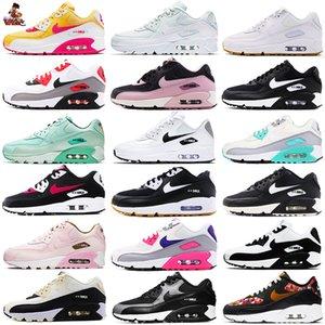 2020 Yeni Erkek Kadın Max 90 koşu ayakkabıları ESAS Parra Punch Airs Klasik 90'lar yastık Casual Zeytin Volt Sneakers EUR36-45 spor