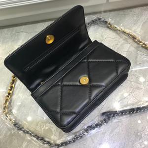 Punto de invierno 2019 nuevos europeos y color sólido bolso de cuero de estilo americano pequeño paquete Lingge cuadrada