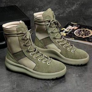 hot KANYE Brand high boots Best Quality Fear of God Top Military Sneakers Hight Army Boots Men and Women Fashion Shoes Martin Boots 38-45 c6
